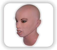 female latex masks