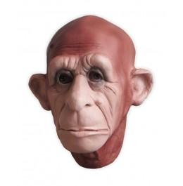 Affenmaske aus Latex Braun