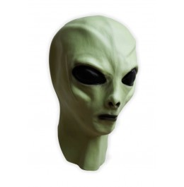 Alien Maske Latex Grün