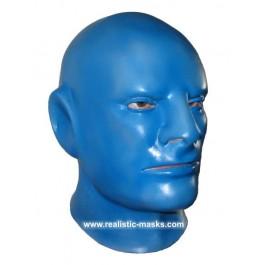 Latexmaske 'Blauer Mann'