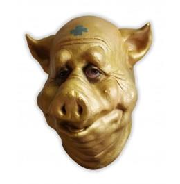 Schaumlatex Maske Goldenes Schwein