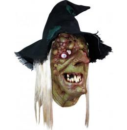 Grusel Maske für Halloween 'Schaurige Hexe'