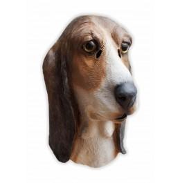 Hunde Maske aus Latex Basset Hound