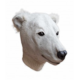 Eisbär Latex Maske