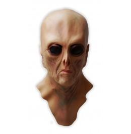 Latex Alienmaske Schwarze Augen