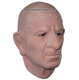 'Runzelgesicht' Latex Maske