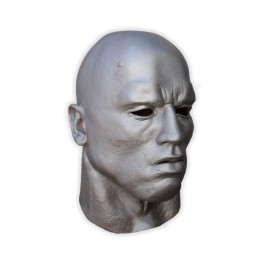 Latex Maske Kopf Silber