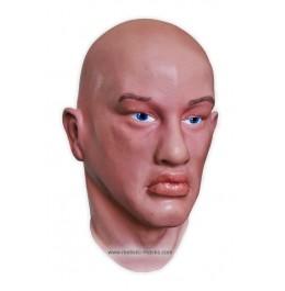 Realistische Maske 'Mann mit blauen Augen'