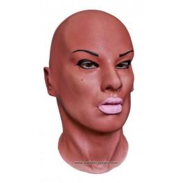 Maske Frauengesicht 'Diva Black'