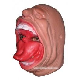 Karneval Maske aus Latex 'Maulheld'