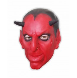 Schaumlatex Maske Teufel Rot