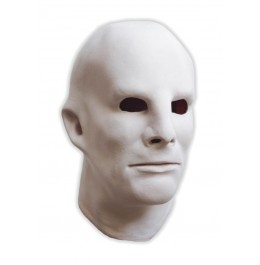 Weiße Gesichtsmaske aus Latex