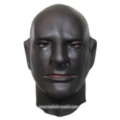 Rubber Latex Maske in Schwarz