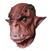 Maske Ork Gesicht Braun