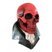 Halloween Maske 'Roter Totenschädel'