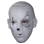 Carnival Latex Mask 'Evil Pedrolino'