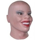 Female Latex Mask 'Smiling Bella'