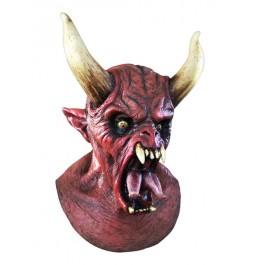 Máscara diablo con la lengua dividida