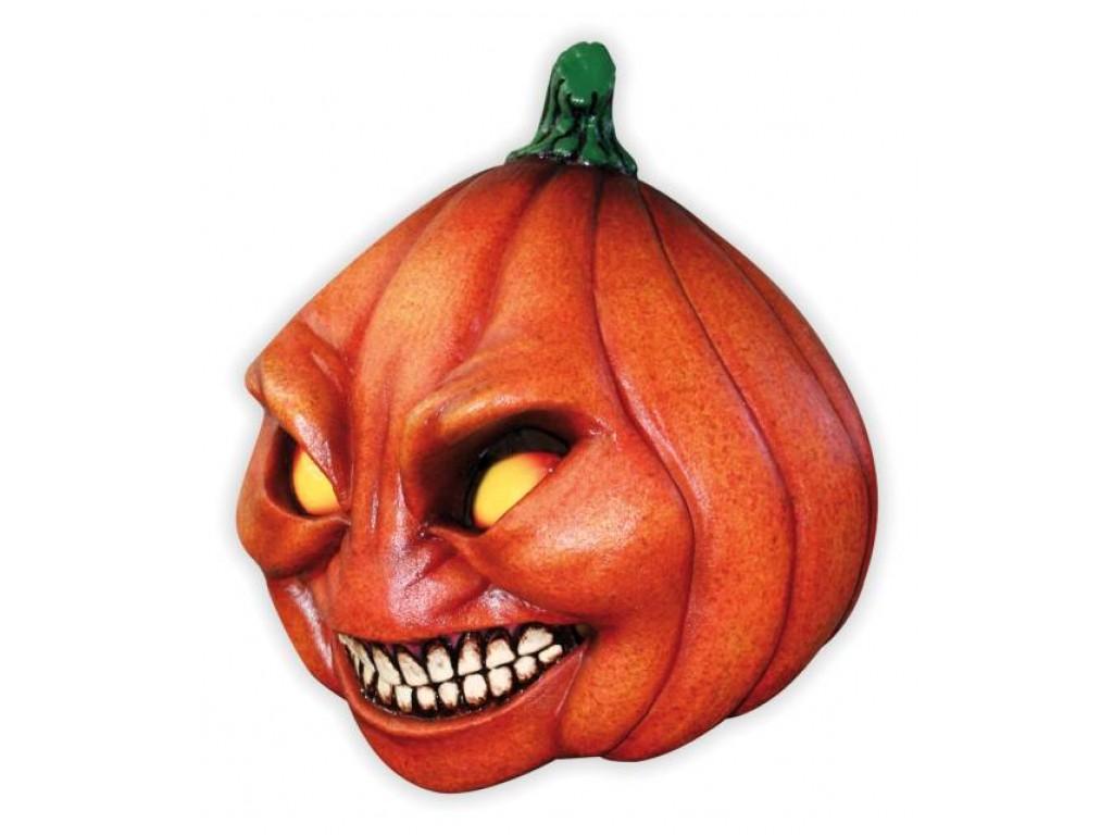 Masque halloween t te de citrouille m chante - Tete de citrouille ...