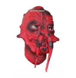 Masque Visage de Monstre Rouge